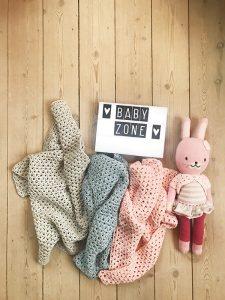Calm Design Baby plaid - Lyseblå - 100% bomuld
