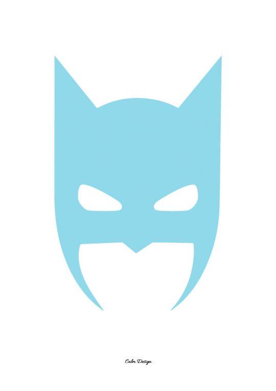 Calm Design Plakat - Batman - lyseblå - A3