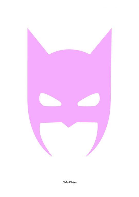 Calm Design Plakat - Batman - Lyserød - A3