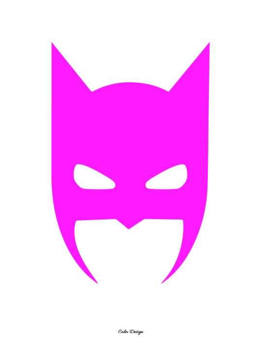 Calm Design Plakat - Batman - pink - A3