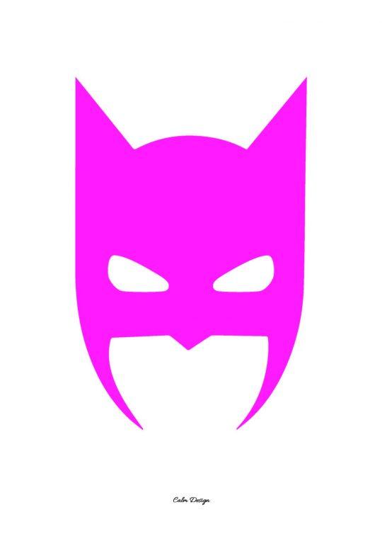 Calm Design Plakat - Batman - pink - A3