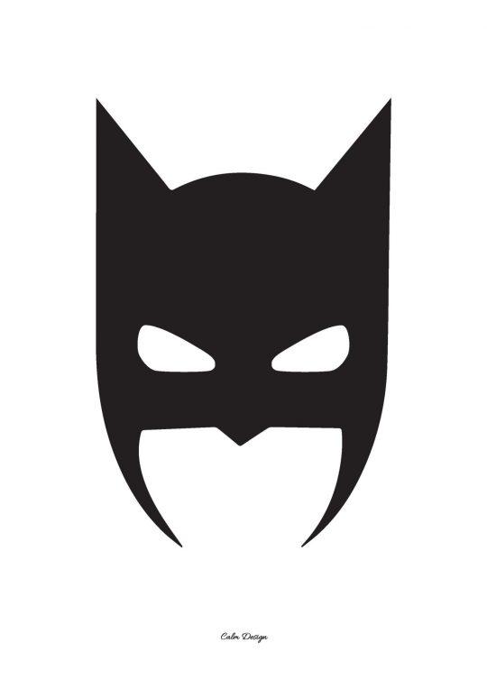 Calm Design Plakat - Batman - sort - A3