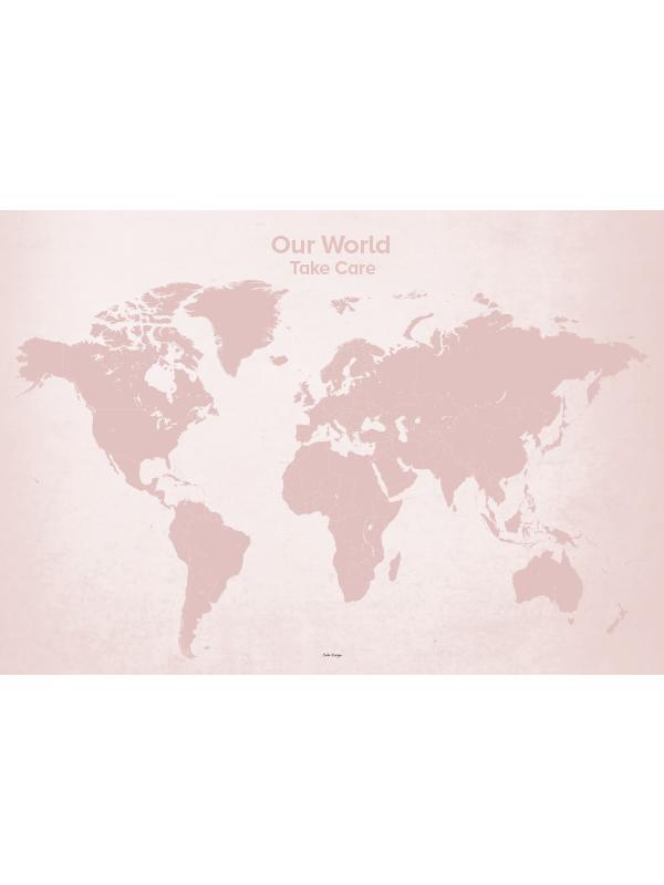 139e8ba66fe Calm Design Plakat - Our World - rosa - Calm Design