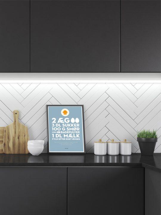 Calm Design Plakat - Muffinopskrift - A4