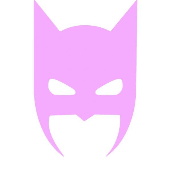 Batman – plakat - lyserød – A4