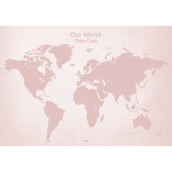Our World – plakat - Rosa – 100 x 70 cm.