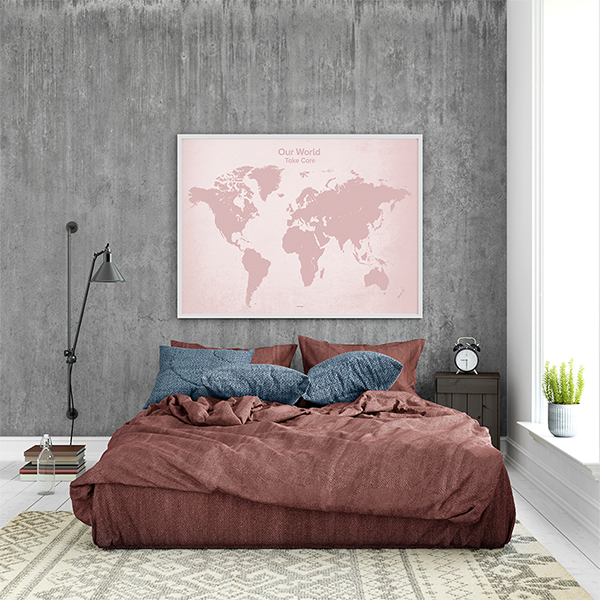 Our World – plakat - Rosa – 100 x 70 cm.
