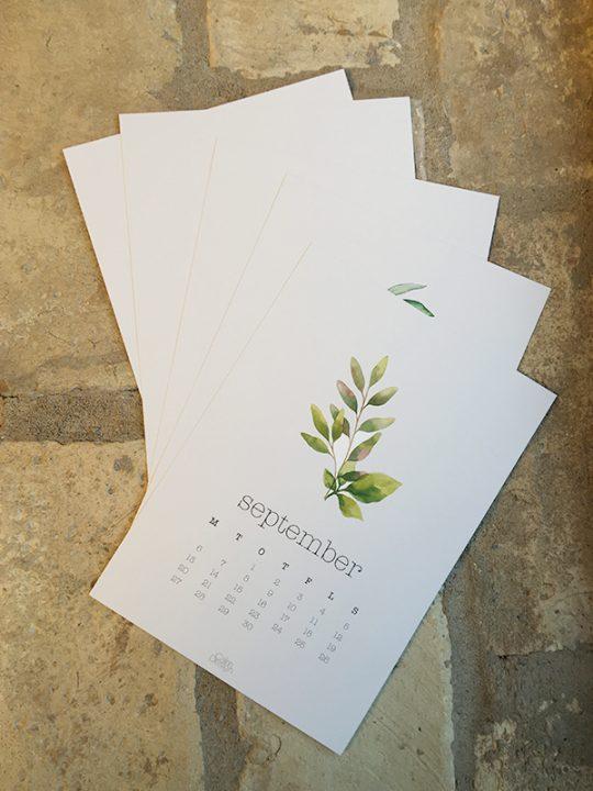 Calm Design - Kalender på Clipboard 2021