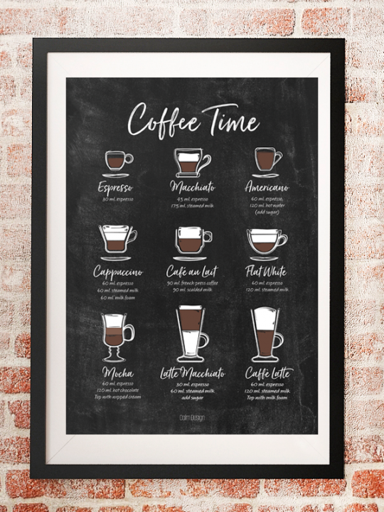 Calm Design Plakat - Coffee Time
