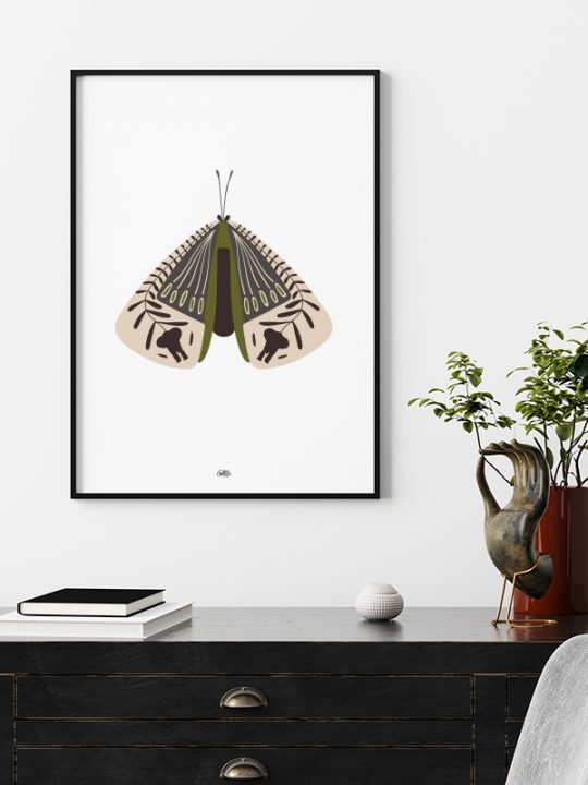 Plakat - Elephant-Bug - 2 - Oliven - Calm Design