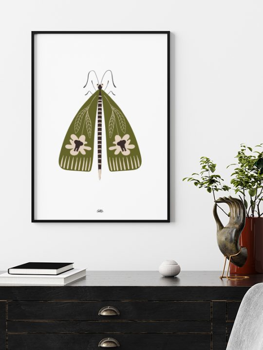 Plakat - Elephant-Bug - 1 - Oliven - Calm Design