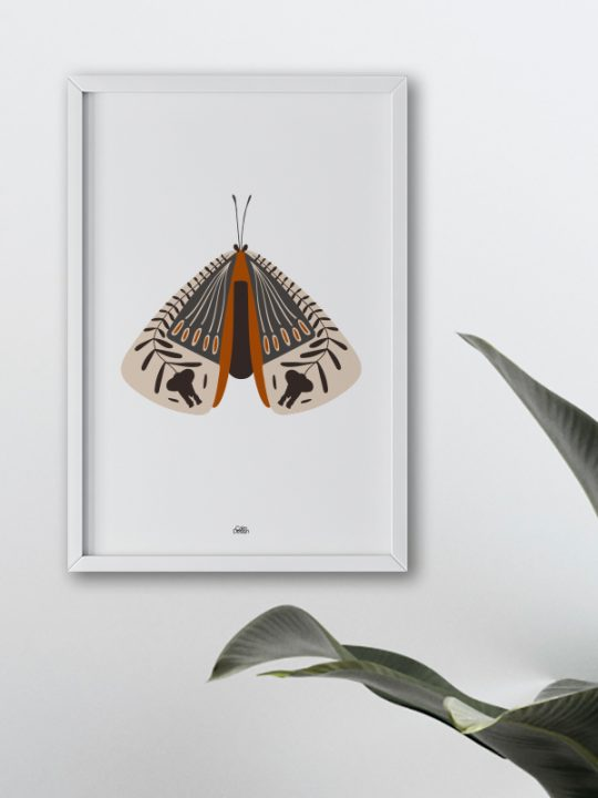 Plakat - Elephant-Bug - 2 - Cognac - Calm Design