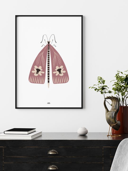 Plakat - Elephant-Bug - 1 - Rosa - Calm Design