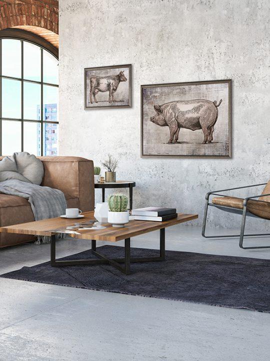 Calm Design - plakat - gris - Grå