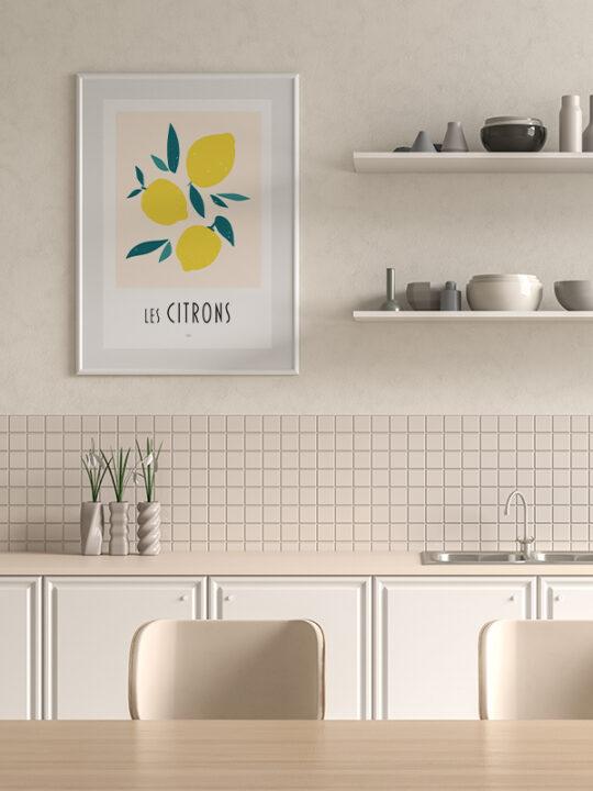 Calm Design - Les Citrons - Plakat