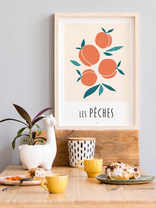 Calm Design - Les Peches - Plakat