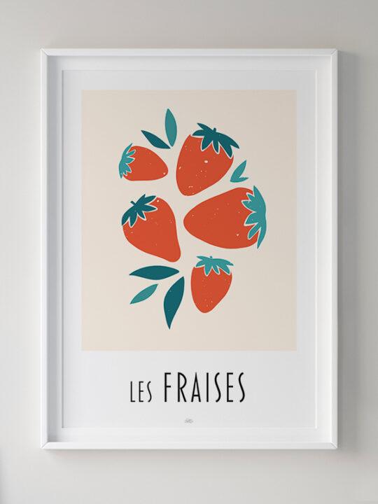 Calm Design - Les Fraises - Plakat