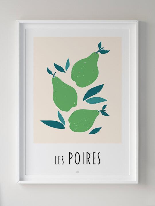 Calm Design - Les Poires - Plakat
