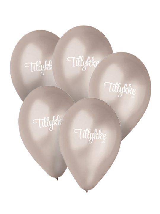 Calm Design - Balloner - Metallic - Sølv- 30 cm. - 5 stk.